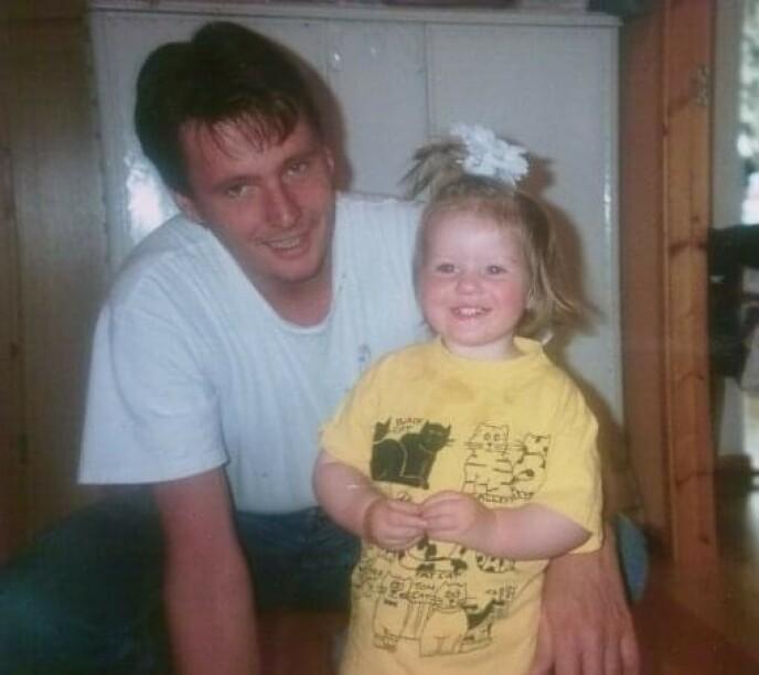 PAPPA: Sofie mistet faren da hun var 14 år. FOTO: Privat