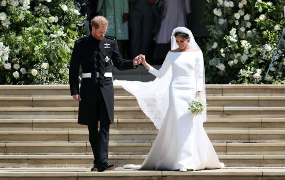 LUKSUSDESIGN: Meghan Markle giftet seg med prins Harry i brudekjole signert Givenchy-designer Clare Waight Keller. FOTO: NTB
