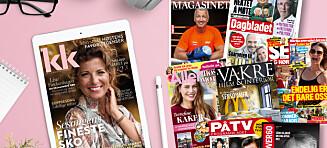 Les KK, Dagbladet, Se og Hør og andre magasiner gratis* i tre måneder