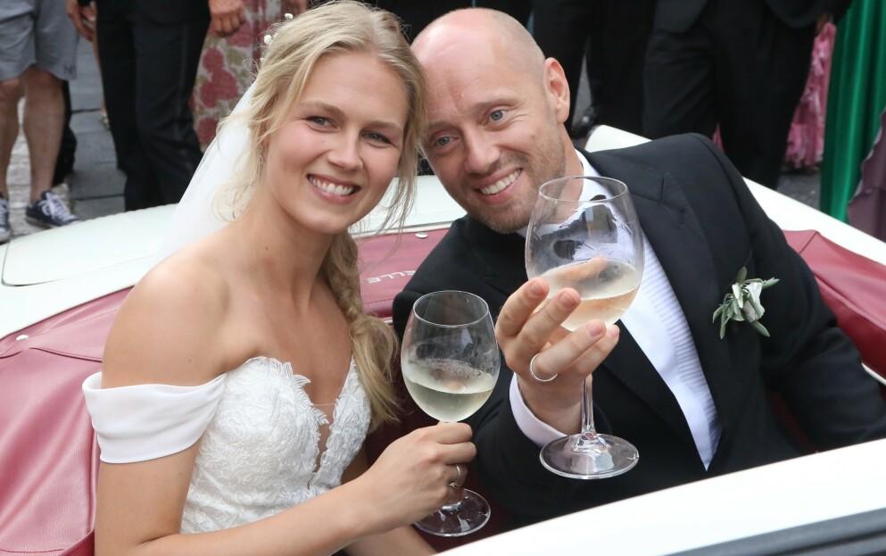 AKSEL HENNIE: Den norske skuespilleren Aksel Hennie giftet seg med Karoline Hegbom på Sicilia høsten 2019. De har to barn sammen. FOTO: NTB