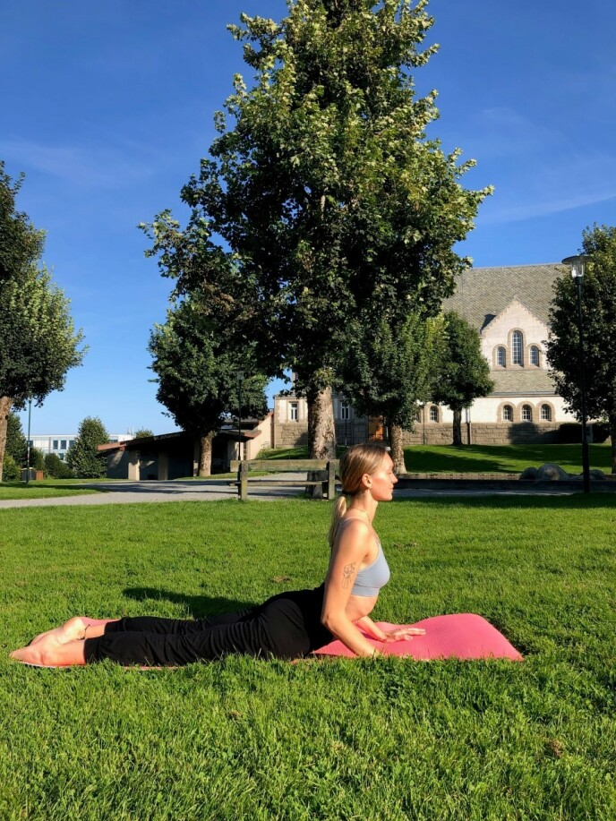 Yoga er en helt sentral del av Ingvilds nye liv. FOTO: Privat