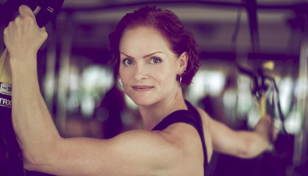 KOM I GANG ETTER 40: Anette Tollefsen utdannet seg til personlig trener og startet med fitness etter at hun hadde fylt 40. - Det er aldri for seint, sier hun. FOTO: Hilde Brevig