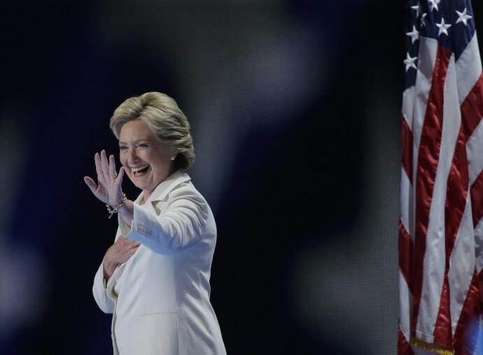 TIL VALG: Da Hillary Clinton stilte til valg i 2016, lå hun an til å bli den første kvinnelige president i amerikansk historie. En av dem som stemte på henne, var Monica Lewinsky. FOTO: NTB