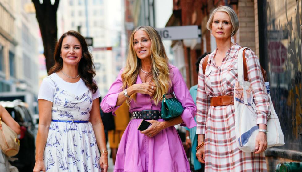 OPPFØLGER: Kristin Davis, Sarah Jessica Parker og Cynthia Nixon skal alle være med i oppfølgeren til «Sex og singelliv». En nykommer er også bekreftet i en av hovedrollene. Foto: SplashNews/NTB