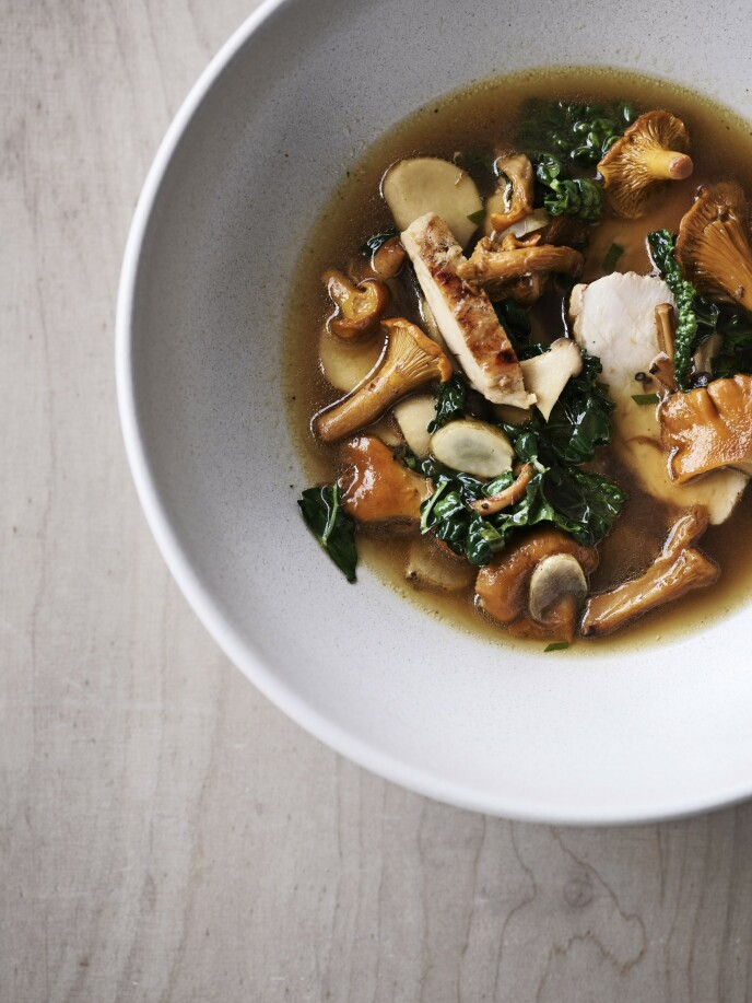 Dette er en soppsuppe med fyldig og god smak. FOTO: MIkkel Karstad