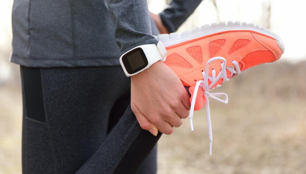 AKTIVITETSKLOKKE: Tracking av aktivitet gir deg økt bevisstgjøring i hverdagen og fører til økt motivasjon. FOTO: NTB