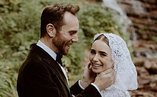Nå er hun gift