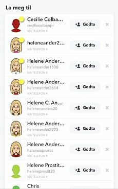 EKSTREMT: Det har blitt opprettet ekstremt mange falske profiler i Helene sitt navn. Foto: Privat