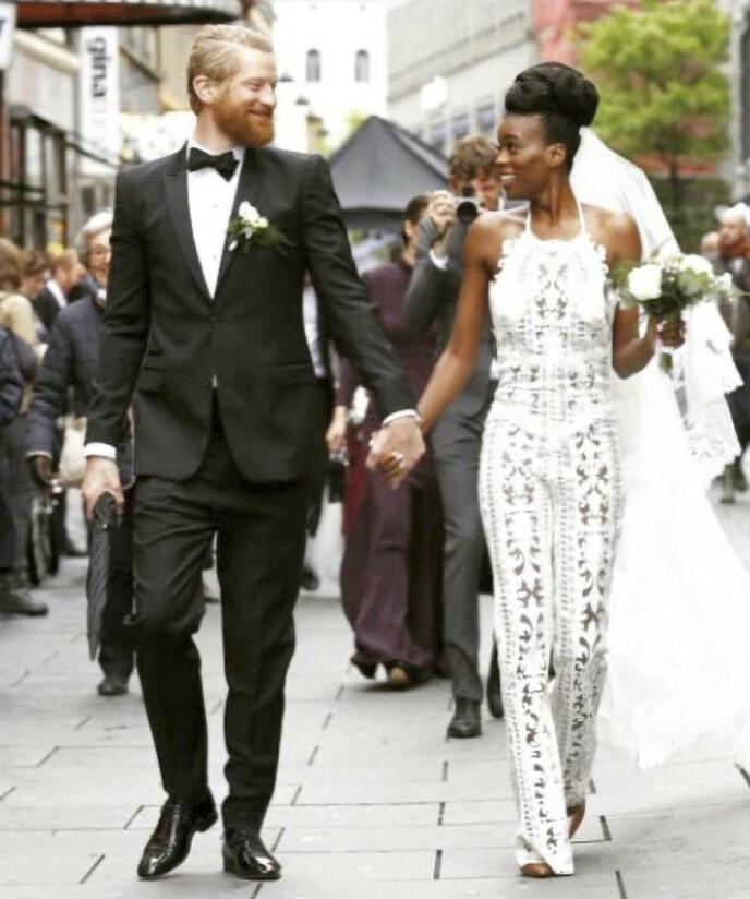 HVIT BRUD: Tinashe giftet seg med Odd-Magnus Williamson for seks år siden. FOTO: Privat