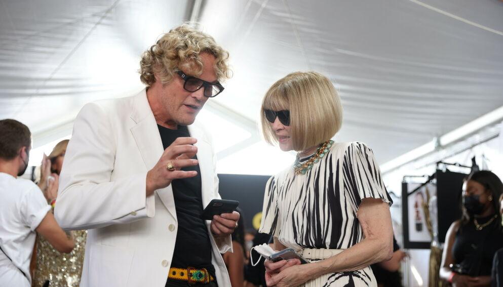 STJERNESKRYT: Den norske designeren Peter Dundas fikk skryt av Anna Wintour for visningen under moteuka i New York. FOTO: NTB