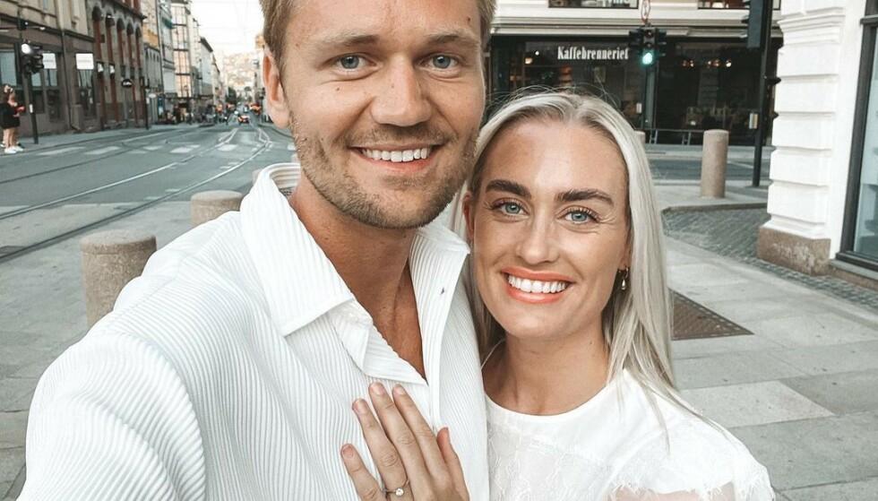 FORHOLD: Morten Dalhaug og Andrea Sveinsdottir møtte hverandre på Norges første Love Island-sesong. Tre år senere er de forlovet. Foto: @andreasveinsdottir