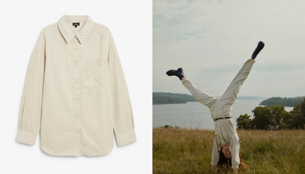 Kordfløyel: Trendy som sett, men buksa (kr 399) og skjorta (kr 399) er også lekre sammen med andre plagg.