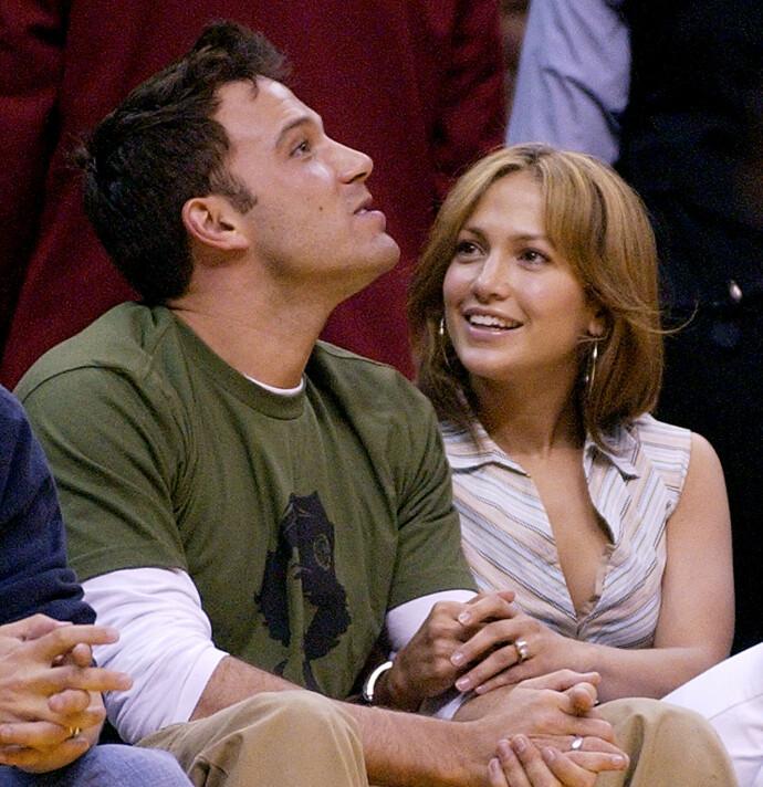 DU OG JEG, BEN: Jennifer og Ben på fotballkamp i 2003. FOTO: NTB