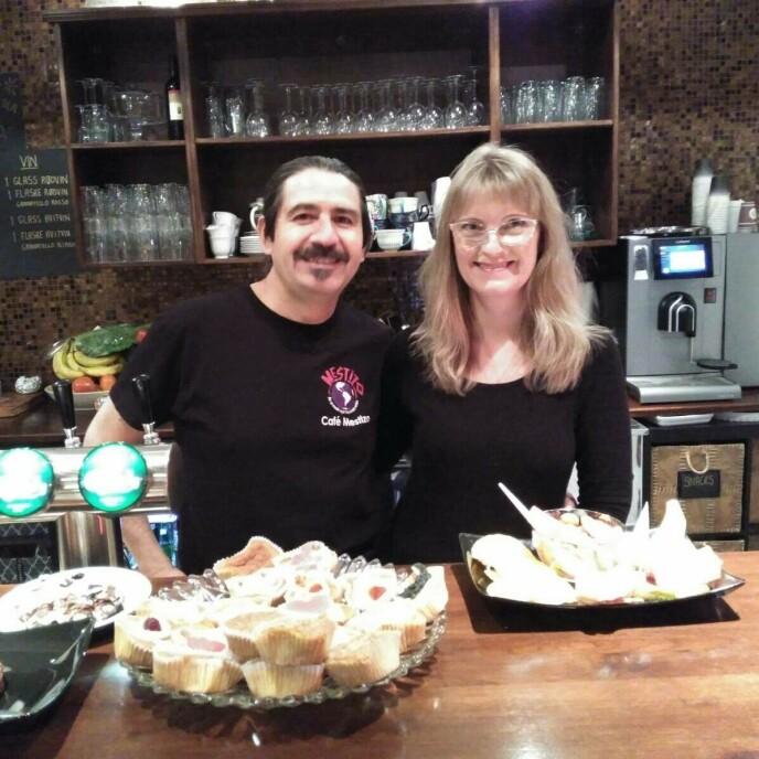 LIVSVERK: Cecilie og Patricio drev kafeen Mestizo sammen før den gikk konkurs. FOTO: Privat