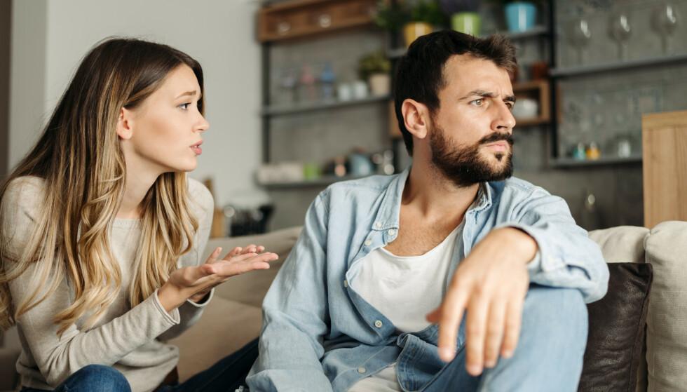 KRANLING: I en skikkelig krangel kan vi også finne på å si noe vi angrer på i ettertid, og som setter dype spor hos partneren vår. FOTO: NTB