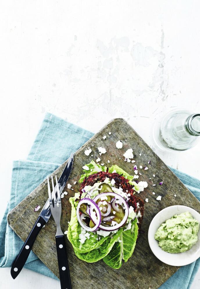 Dette er en skikkelig smakfull vegetarvariant. FOTO: Line Falck
