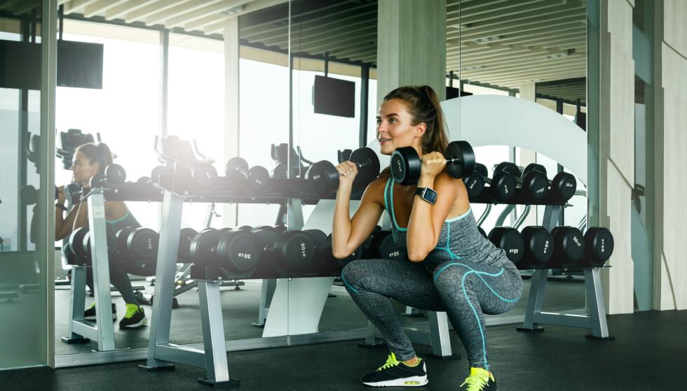 TUNGT: Styrketrening må trenes tungt og nær utmattelse for at man skal kunne få økt muskelvekst, forklarer ekspert. FOTO: NTB