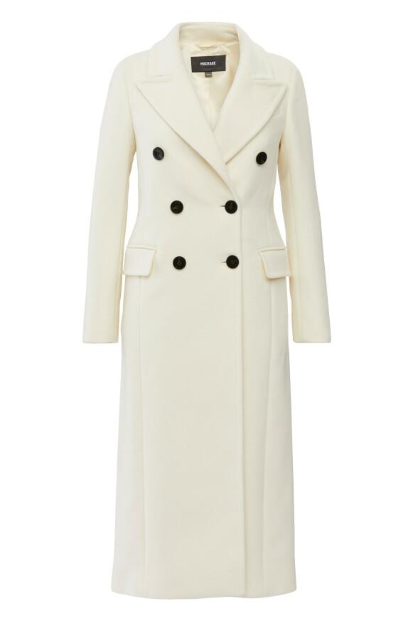 Hvitt er kanskje ikke den mest praktiske fargen, men fy så fin! Kåpe fra Mackage kr 10 299.