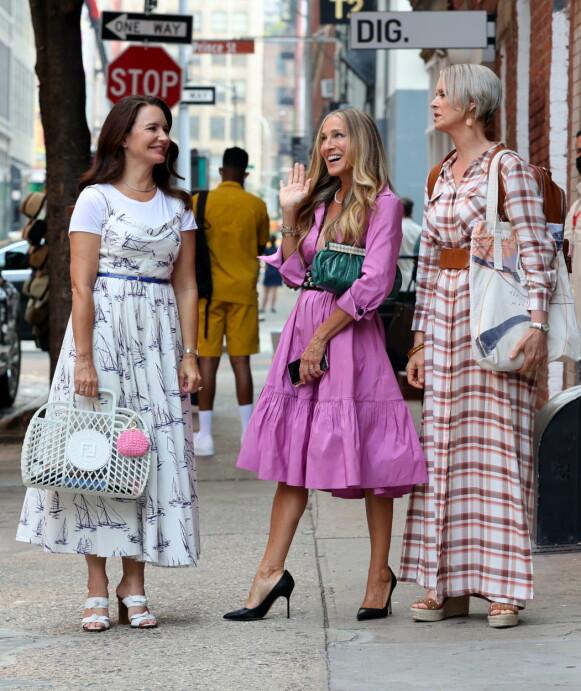Filmingen av den nye serien er godt i gang i New York. FOTO: NTB