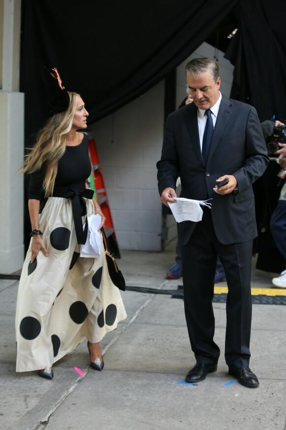 Carrie og Mr. Big er gjenforent. Dette bildet fikk sosiale medier til å koke! FOTO: NTB
