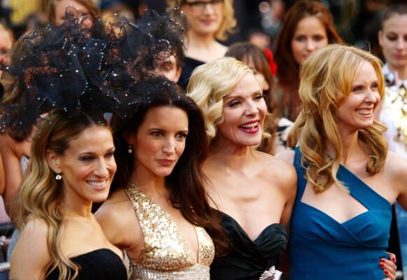 DEN GANG DA: Slik husker vi firkløveret Sarah Jessica Parker (t.v), Kristin Davis, Kim Cattrall og Cynthia Nixon. FOTO: NTB