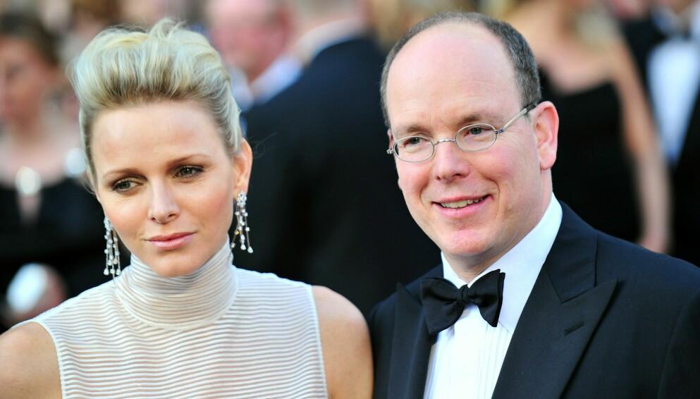 FYRSTINNE CHARLENE: Fyrsteparet Albert og Charlene på Oscar-utdelingen i Los Angeles i 2012. De har vært gift siden 2011. FOTO: NTB