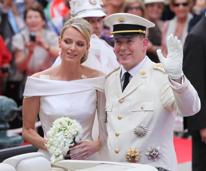 BRYLLUP: Fyrst Albert og OL-svømmeren Charlene giftet seg i en religiøs seremoni i 2011. FOTO: NTB