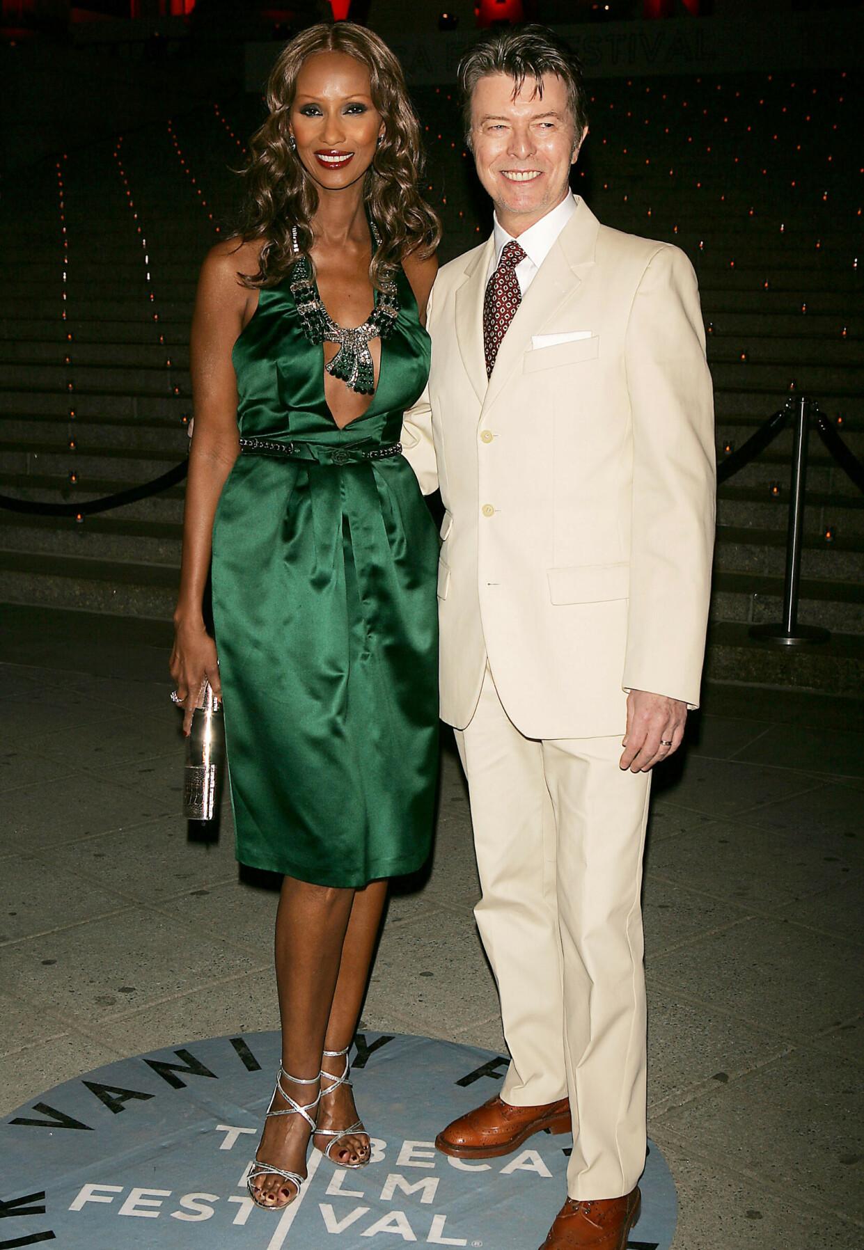 TRIBECA FILM FESTIVAL: Iman og David Bowie i 2007.