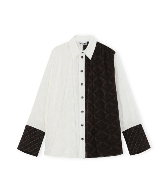Todelt skjorte (kr 3095, Ganni).