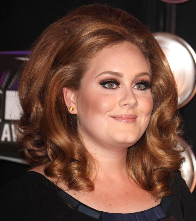 10 ÅR SIDEN: Adele fotografert under MTV Video Music Awards i Los Angeles i august 2011. FOTO: NTB