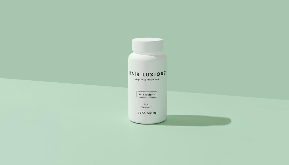 VITAMINER OG MINERALER: Hair Luxious inneholder biotin, kobber, selen og sink som sammen bidrar til et sunt hår innenfra.