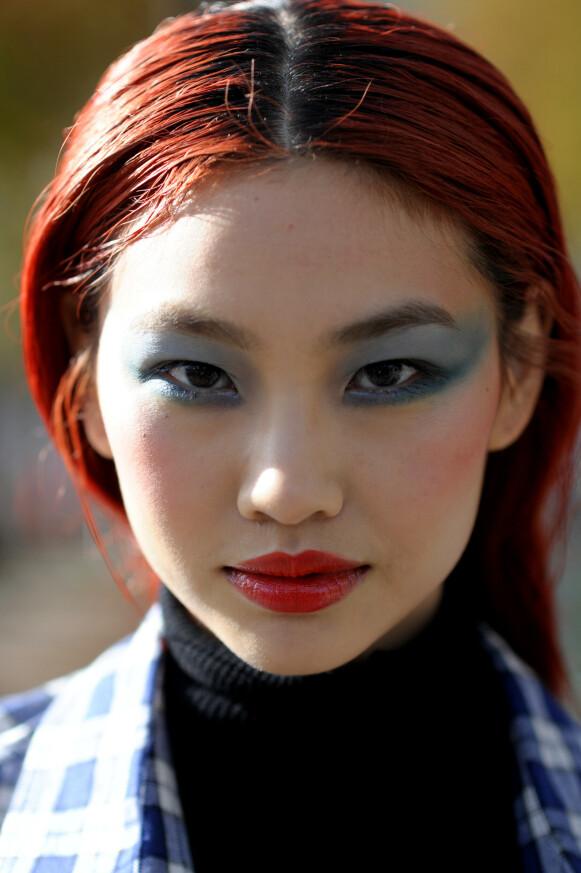 STILIG: Den sørkoreanske modellen er et kjent ansikt på gatemotebilder. FOTO: NTB