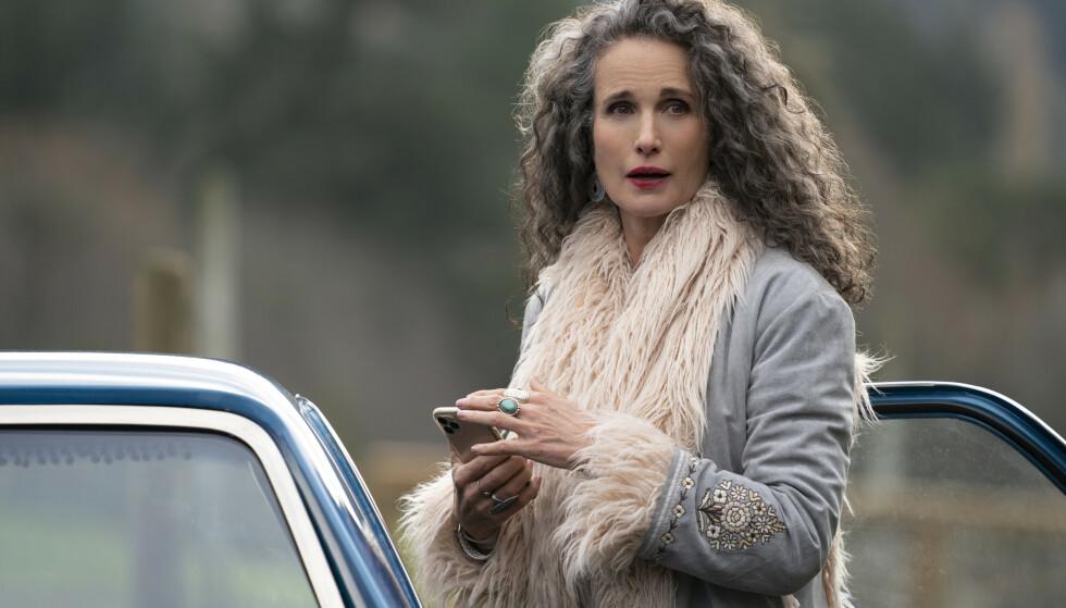 KREVENDE: Skuespiller Andie McDowell elsket utfordringen med å spille en rolle hun aldri før har fått bryne seg på. Her fra Maid-serien. FOTO: Netflix / NTB