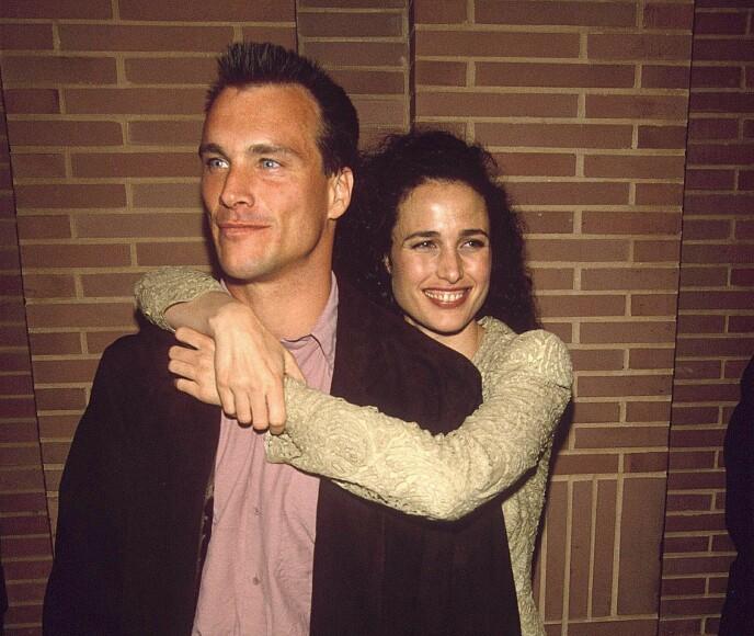 DEN GANG DA: Andie MacDowell med ektemannen Paul Qually i 1991. De fikk tre barn sammen, for skilsmissen i 1999. FOTO: NTB