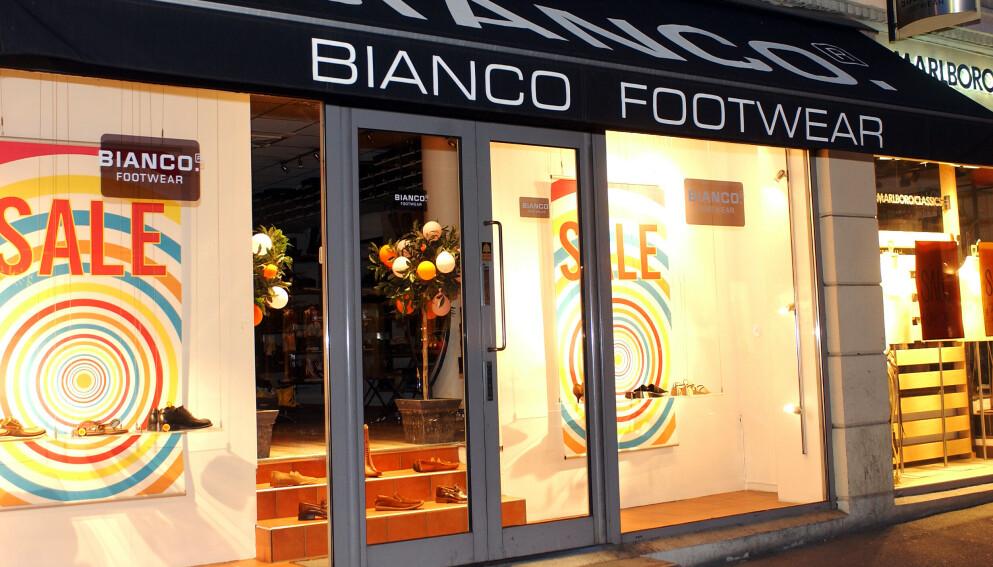 STENGER: Skokjeden Bianco legger ned alle sine butikker i Norge. FOTO: NTB